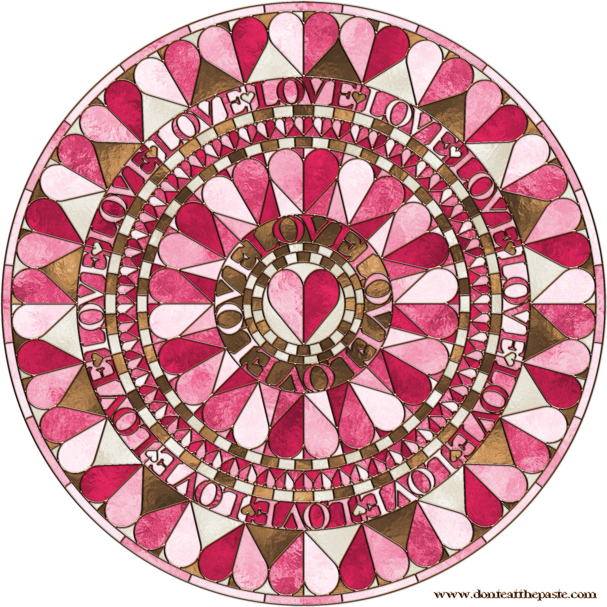 Dont Eat The Paste Hearts Mandala To Color