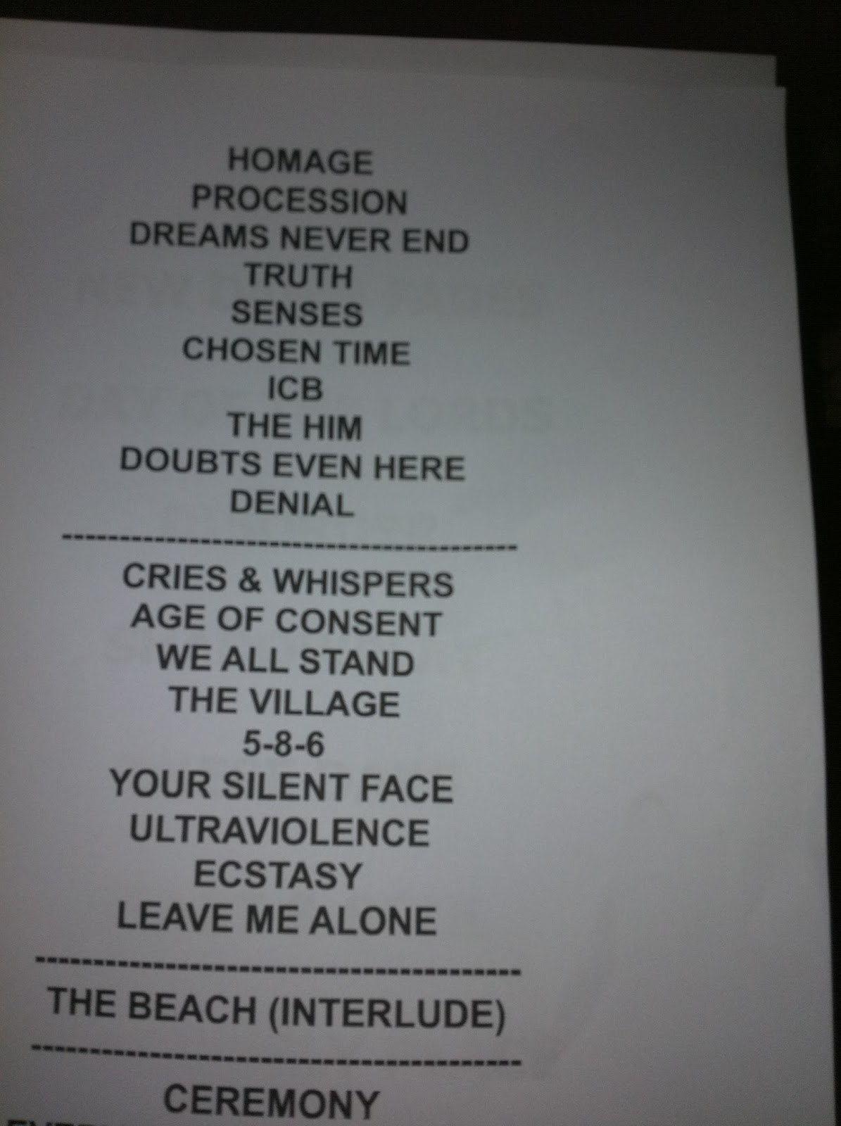 The coloring book tour setlist - Full Show Setlist