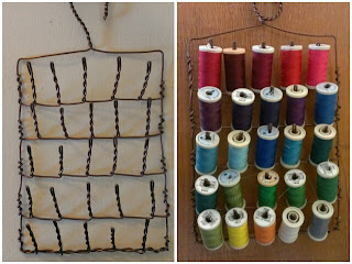 craftypainter: wire cotton reel holder