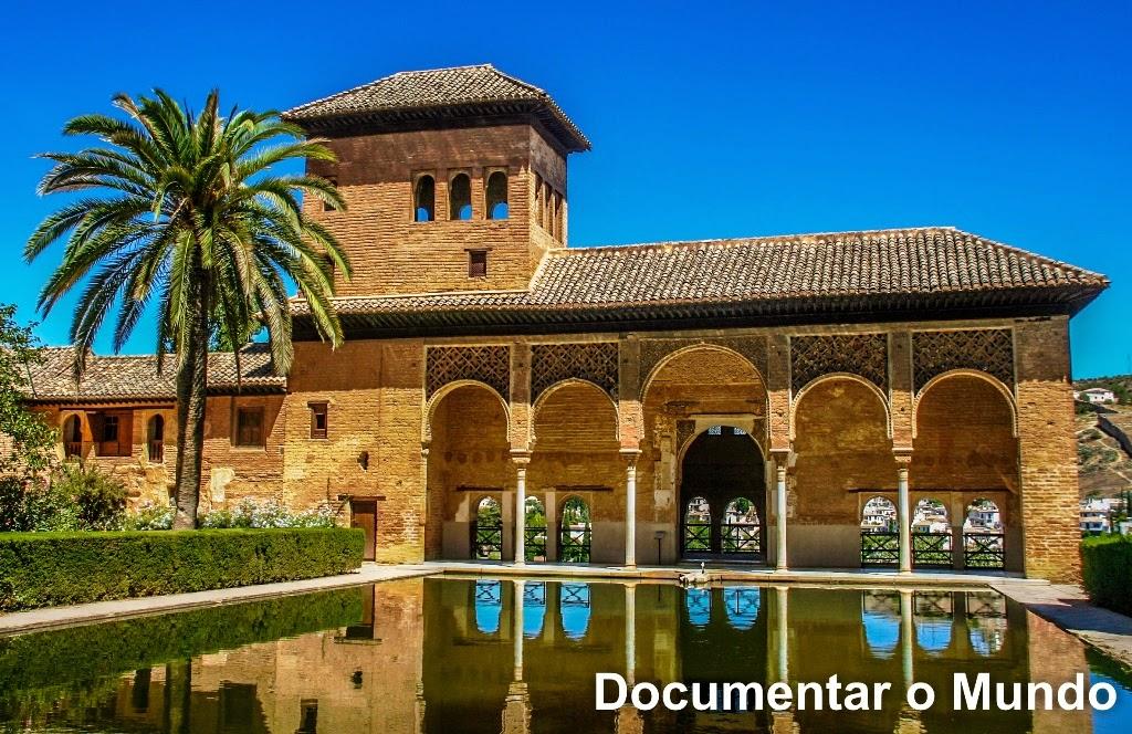 Lago, Alhambra, Granada, Espanha