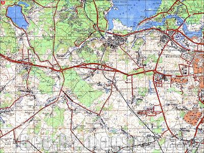 Карта с окрестностями Крылово, квадрат N35-79