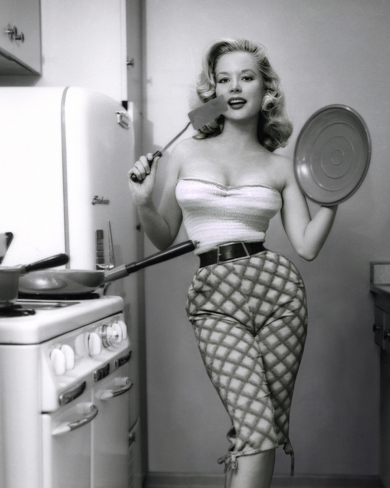 And One More Of Betty Brosmer From The Kitchen