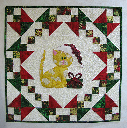 Kitty Kitty pattern all ready for Christmas at Freemotion by the River
