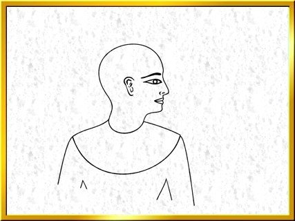 how to draw egyptian figure