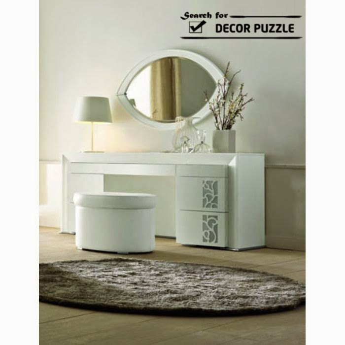 Luxury modern white dressing table designs 2018 for White table design