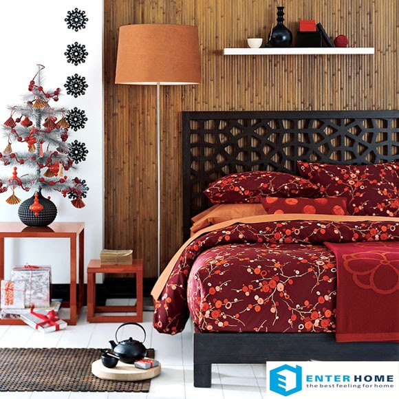 Nội thất phòng ngủ đỏ