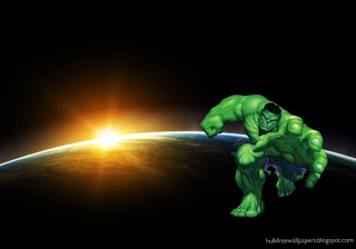 The Incredible Hulk Wallpaper. The Incredible Hulk Tries to grab You in Space Eclipse background