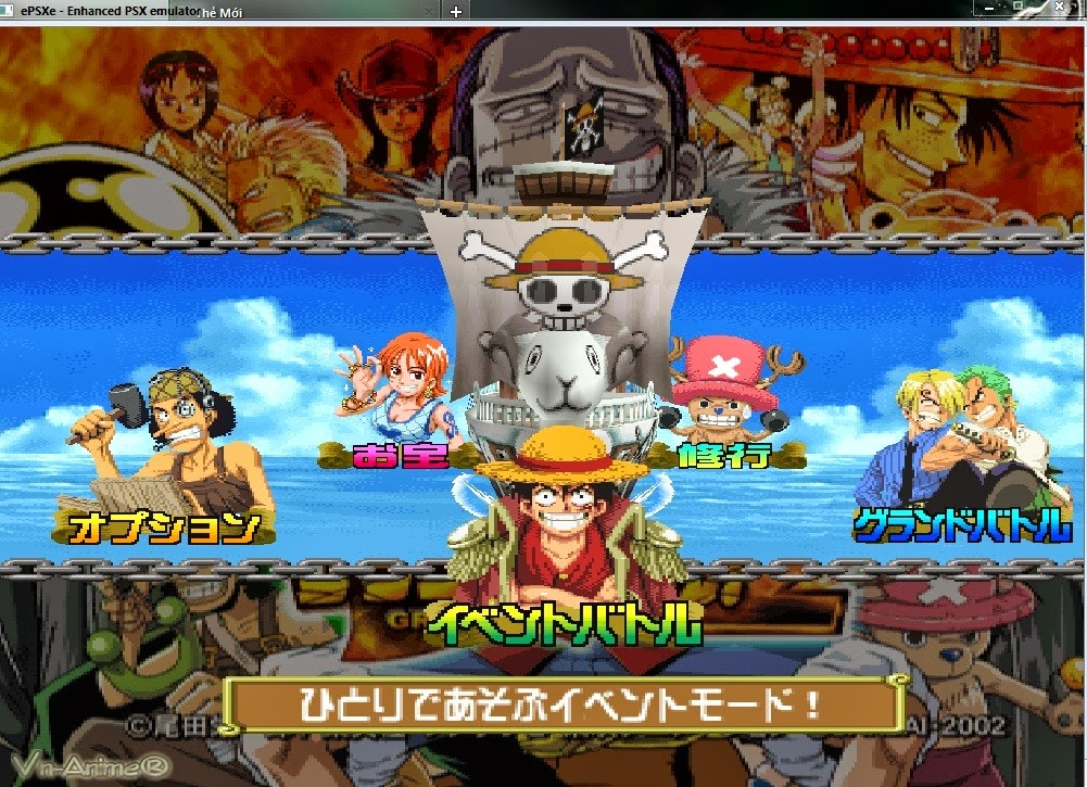Download game [Giải lập - PS1] One Piece Grand Battle 2 - rất hay
