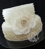 Bolo de casamento (Ruffled Cake)