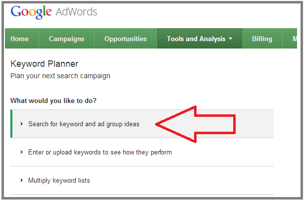 how to find top paying keywords with keyword planner?