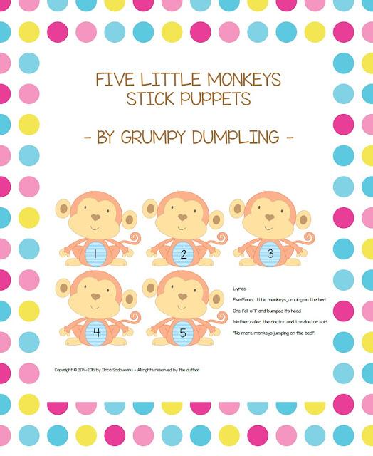 https://www.teacherspayteachers.com/Product/Five-Little-Monkeys-Stick-Puppets-1517285