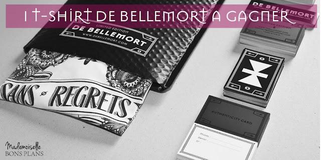 """Jeu De Bellemort et Mademoiselle Bons Plans: 1 T-shirt modèle girl """"sans regrets"""" à gagner"""