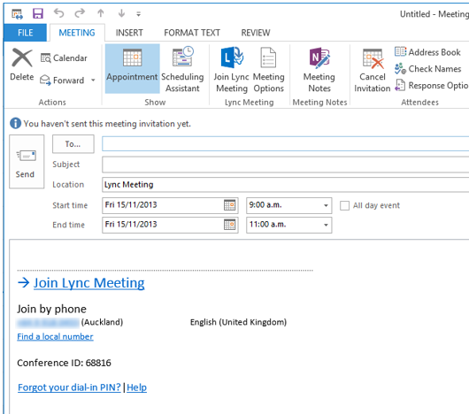 outlook online meeting join by phone The calendar entry on windows phone 8 has a button join online meeting which once you press, it starts the lync app on the phone and takes you straight into the virtual conference room.