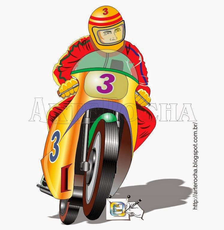 arterocha moto de corrida amarela