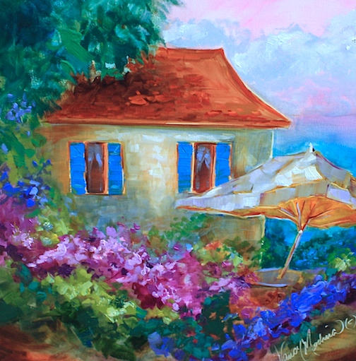 http://www.nancymedina.com/available-paintings/seaside-cottage-a-french-retreat