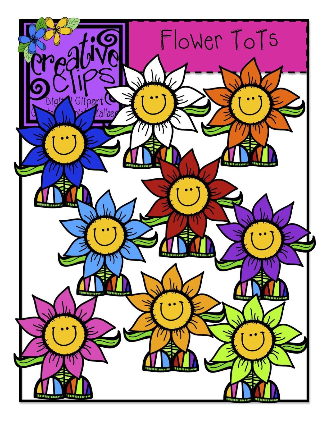 How can YOU snatch up my FREE Flower Tot Clipart!?