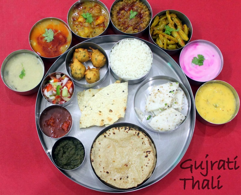 Gujrati thali ribbons to pastas gujrati thali forumfinder Image collections