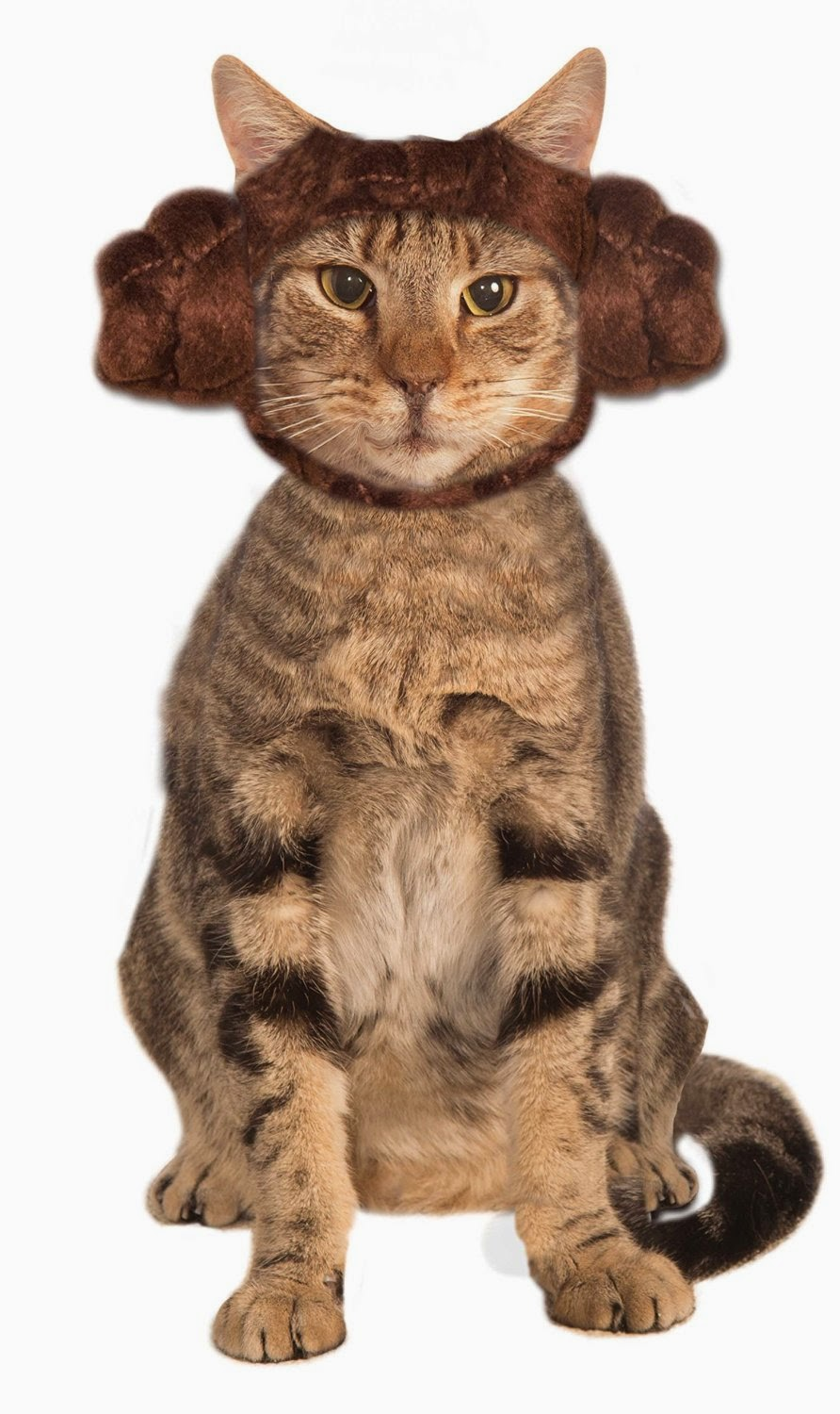 Halloween Costumes for Cats - Star Wars Classic Leia Cat Buns Headpiece