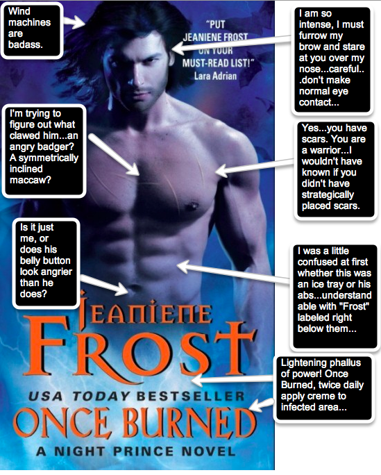 Fiction feature jeaniene frosts once burned how i survive the just what are they trying to convey here a disembodied torso who will sexy you up with his electric personality this is apparently from the night fandeluxe Choice Image