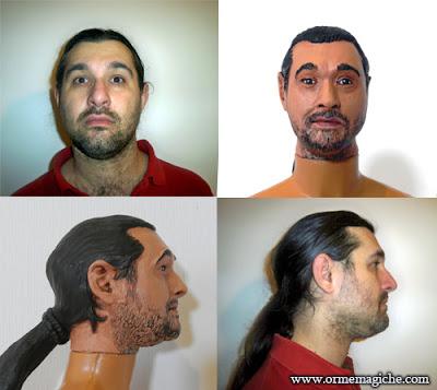 orme magiche ritratti personalizzati su commissione scultura viso action figure modellino piccolo ritratto