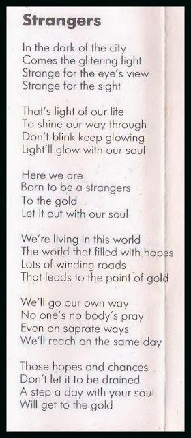 Lirik Strangers Strangers
