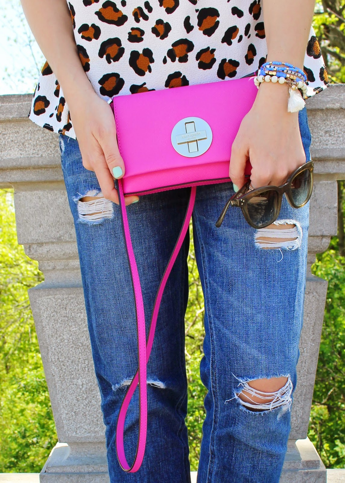 bijuleni - Kate Spade hot pink crossbody handbag