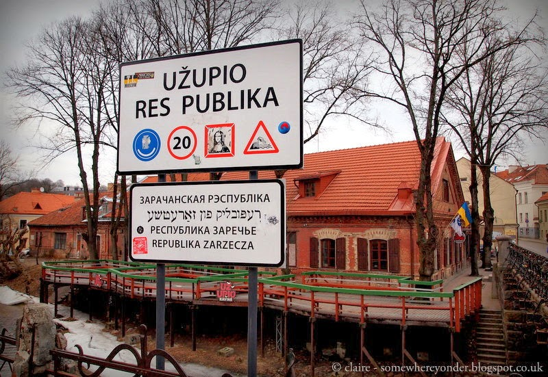 Entering the republic of Užupis - Lithuania