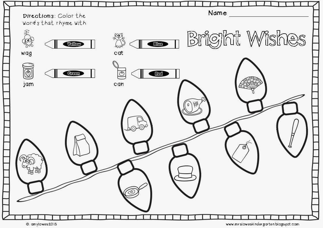 Mrs. Lowes' Kindergarten Korner: No Prep Christmas Math And Literacy Printables Giveaway