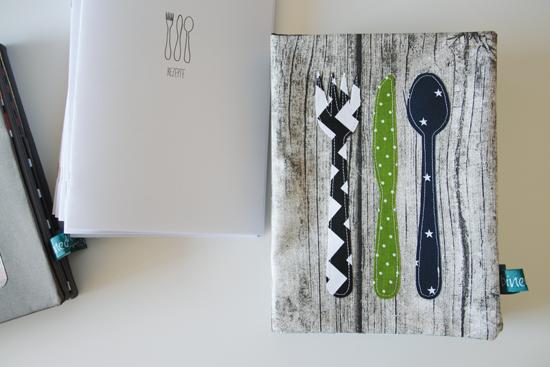 binedoro Blog, Aus dem Nähzimmer, Rezeptemappe, nähen, DIY, Heft für Rezepte