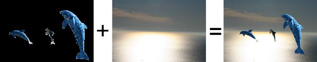 Golfinhos no Sado by JotaV = soma de duas imagens
