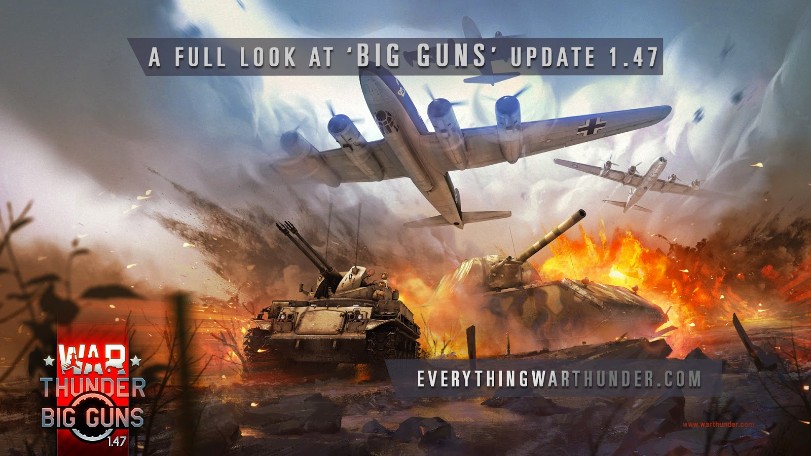 welcome to everything war thunder in this post we ll be looking at war thunder s new big guns update 1 47 this includes many of the new pilot and tank