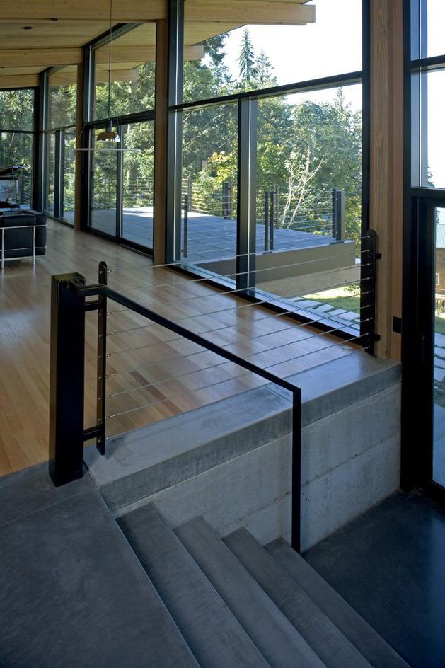 Desain Rumah Kabin Modern Kayu dan Kaca - Desain Rumah Modern Minimalis