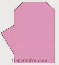 Bước 7: Hoàn thành cách xếp găng tay bằng giấy origami đơn giản