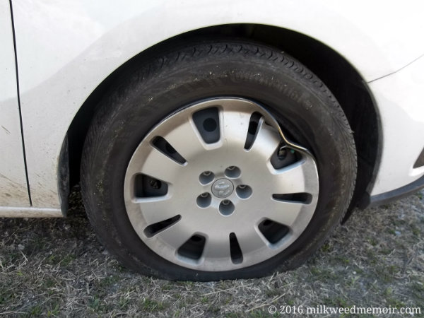 Bent tire rim on Dodge Ram Promaster City