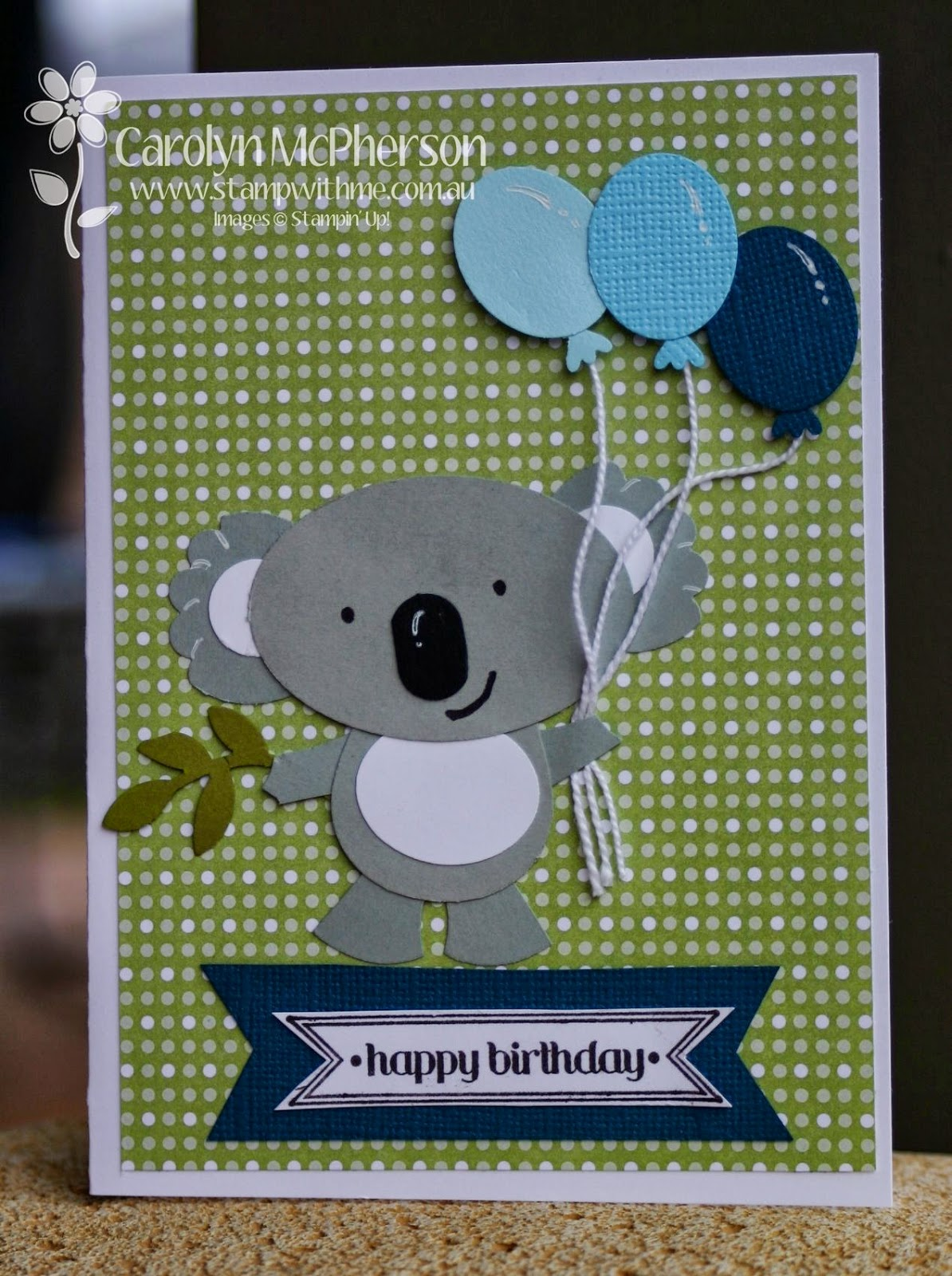Stamp With Me Koala Birthday Card