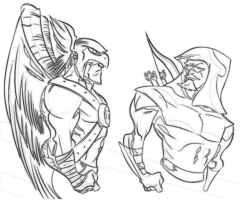 hawkman coloring pages - photo#9