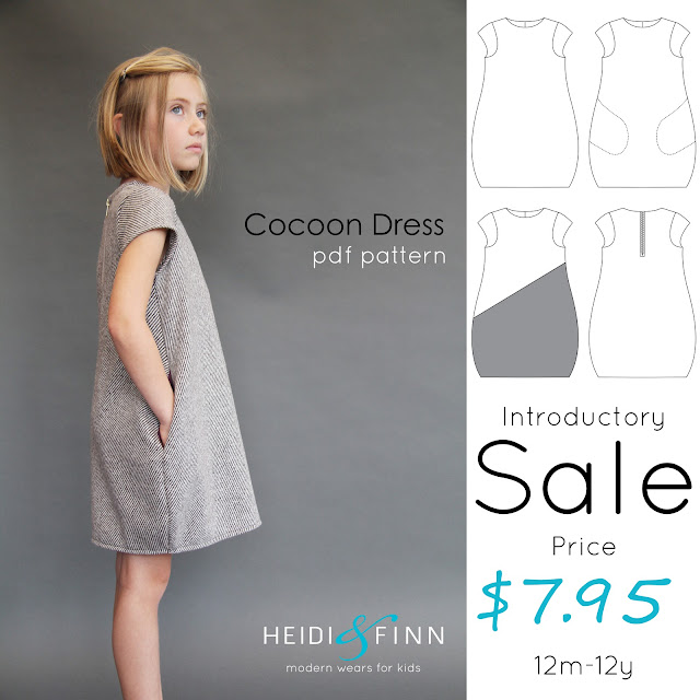 HeidiandFinn modern wears for kids: Cocoon Dress - Release + tester ...