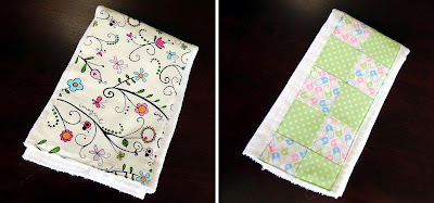 Burp cloths made from cloth diapers