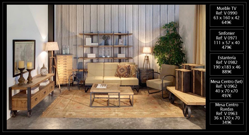 El blog de original house muebles y decoraci n de estilo for Muebles industrial loft