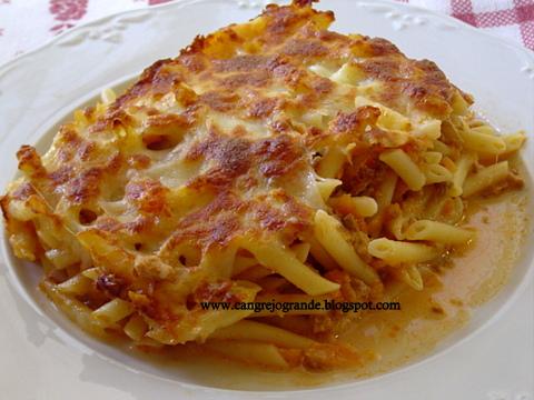 Cangrejo grande receta de macarrones gratinados al horno - Macarrones con verduras al horno ...