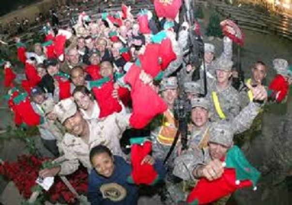 Christmas gift packages for soldiers