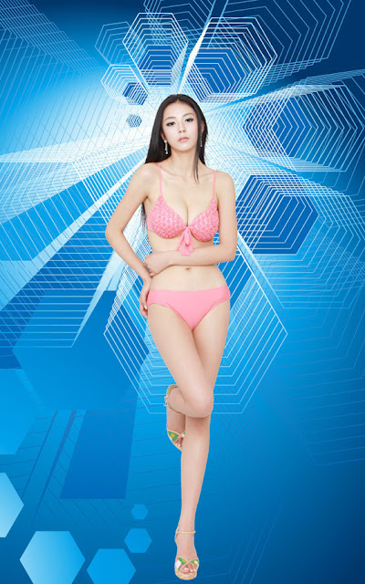 Ai Shang Zhen with pink lingerie