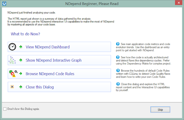 NDepend v5 practice 6