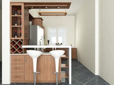 Quầy bar gỗ sồi nhà bếp