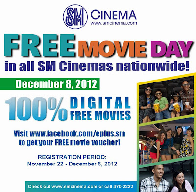 SM Cinema Free Movie Day on December 8 - Get Free Movie Voucher