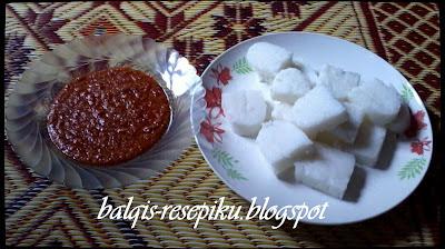 Nasi Himpit Kuah Kacang
