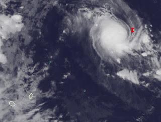 Potentieller Tropischer Sturm 15S (Zyklon JONI) momentan unterwegs in Richtung Rodrigues, Mauritius und La Reunion, Joni, aktuell, Satellitenbild Satellitenbilder, Februar, März, 2011, Mauritius, Indischer Ozean Indik, Zyklonsaison Südwest-Indik,