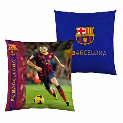 Funda cojín 40x40 cms. FCBarcelona. ref: FUTC09 Iniesta. Euromoda