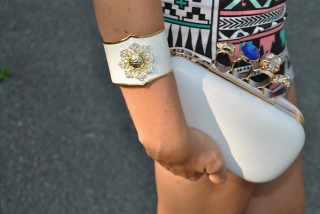 bracciale bianco majique bracciale rigido in pelle bianca come abbinare un bracciale bianco majique london bracelet white bracelet oceanic jewellers mariafelicia magno fashion blogger colorblock by felym accessori estivi bracciali estivi bracciali rigidi