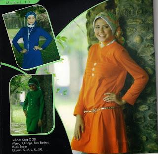 Mazaya Busana Muslim Hijau Orange Biru benhur